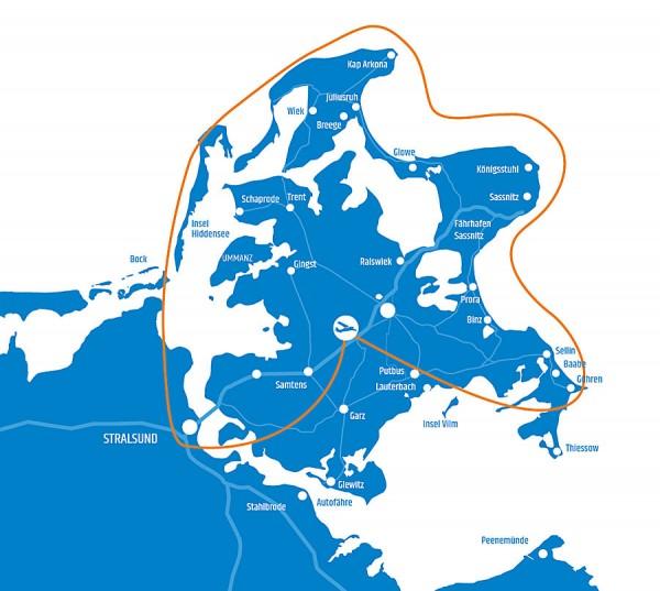 Tour 6 - Rund um Rügen mit Stralsund und Hiddensee