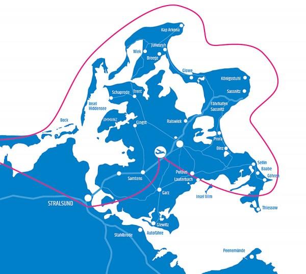 Tour 8 - Stralsund - Barth - Darßer Ort - Rund um Rügen